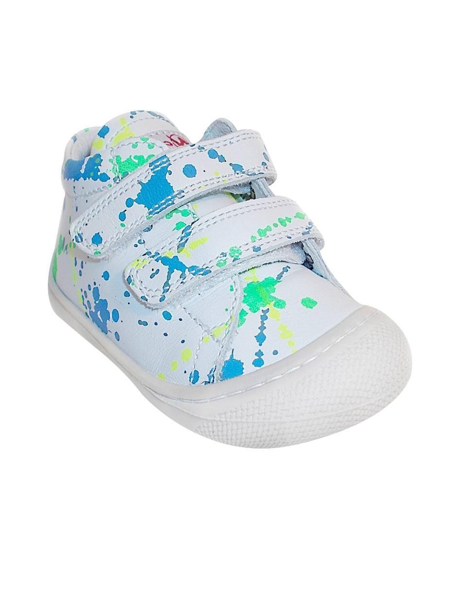 4736899baebbc Tenis con diseño gráfico Naturino de piel para niño